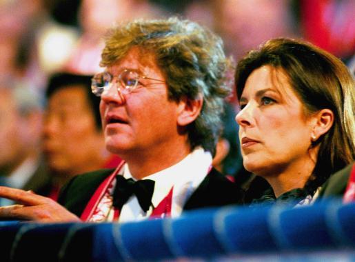 La Princesa Carolina de Mónaco y el Príncipe Ernesto de Hannover en el circo.