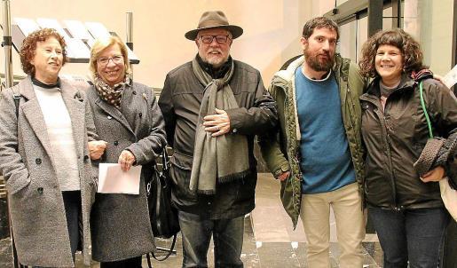 Dolors Aguiló, Lila Thomàs, Miquel Rosselló, Joan Pau Jordà y Esther López.