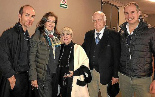 Juan Ferragut, Alejandra Salvá, Concha Velasco y Rafael Ferragut, padre e hijo.