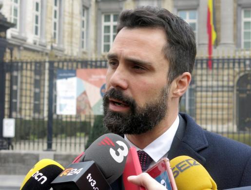 El presidente del Parlamento catalán, Roger Torrent.