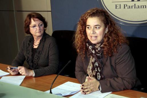 Pilar Costa y Cristina Rita, en la rueda de prensa ofrecida hoy.