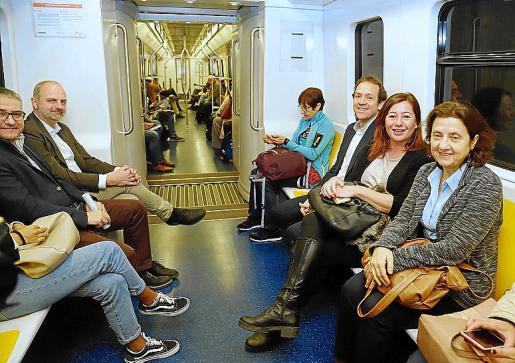 Armengol, Pons y Santiago viajaron en metro a la UIB.