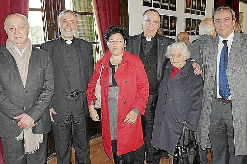 Joan Guaita, Lluc Riera, Catalina Albertí, Joan Darder, sor Chima Bauzá de Mirabó y Pere Ollers.