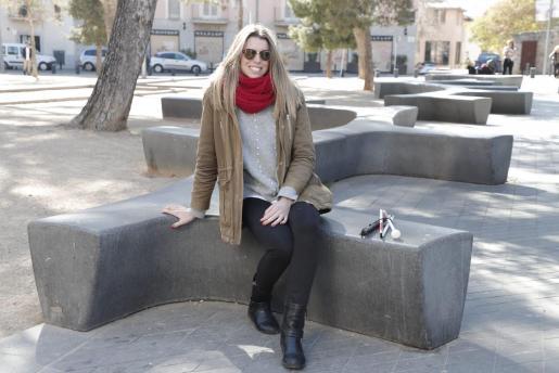 La modelo mallorquina sorda y ciega Mireia Mendoza, en Palma.