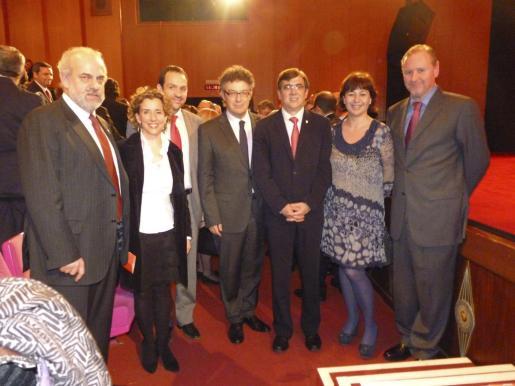 Albert Moragues, Aina Calvo, Marc Pons, Rysgard Schmepf, Francesc Antich, Francina Armengol y Ramon Socías.