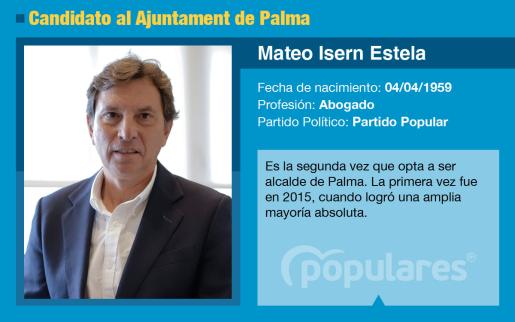 Mateo Isern volverá a presentarse como candidato del PP al Ajuntament Palma en las elecciones municipales.