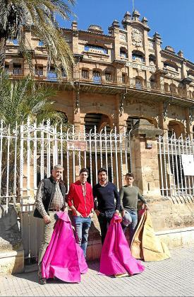 Los toreros mallorquines Alberto Campos, Gabriel Pericás, Jesús López y Juan Luis Bozada.