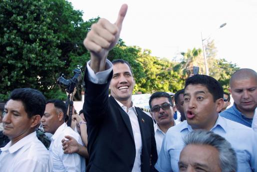 Juan Guaido anuncia desde Ecuador su intención de regresar a Venezuela.
