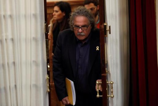 El portavoz de ERC, Joan Tardà, en el Congreso el pasado mes de diciembre.