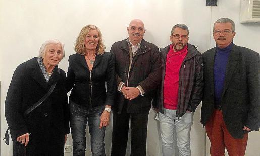 Renate Werthwein, Miquela Vidal, Miguel A. Riera, Antoni Planas y Teodoro Pou.