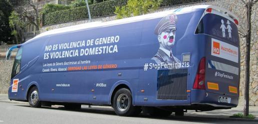 El autobús de HazteOír tenía previsto recorrer Barcelona.