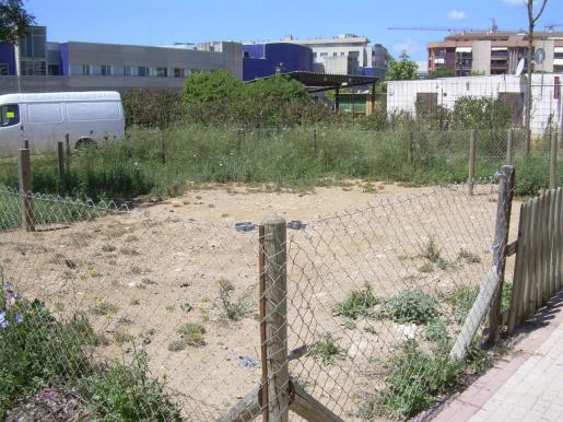 Imagen de archivo de descampados en la calle Pere Caffaro de Palma