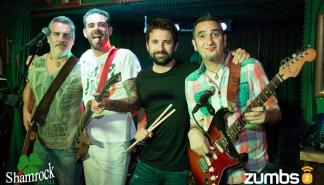 La banda de versiones de rock'n'roll Cold Sweat Band en el Shamrock