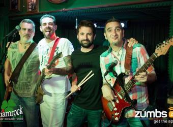 La banda de versiones de rock'n'roll Cold Sweat Band en el Shamrock