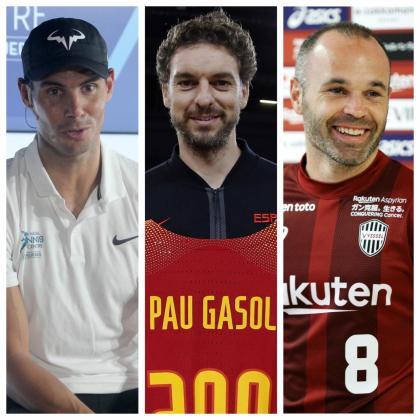 Rafael Nadal, Pau Gasol y Andrés Iniesta lideran la lista de los más conocidos.