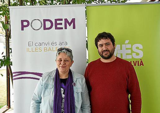 Marga Plomer y Rafel Sedano, durante la presentación en Calvià.