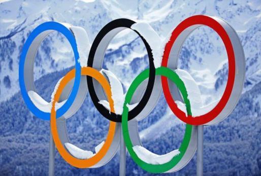 Imagen de los cinco aros olímpicos.