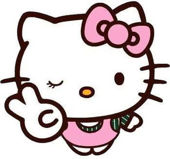 Hello Kitty, en una simpática imagen.