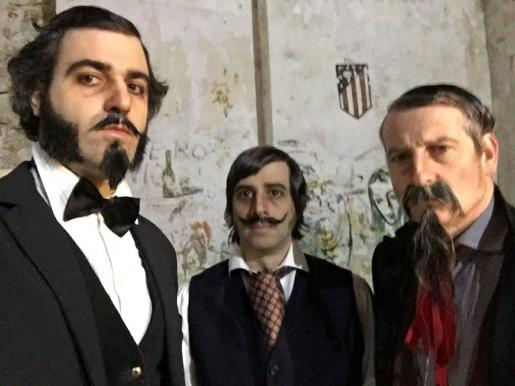 Los tres integrantes de la banda musical 'Guadalupe Plata'