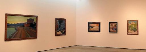 Vista general de la Sala 1 del Museu Es Baluard, que acoge la muestra en homenaje a Pere A. Serra.