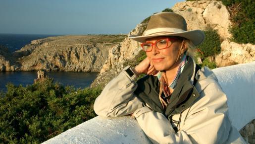 La actriz Silvia Tortosa, durante un rodaje reciente en Menorca.