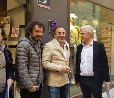 Josep Melià ha visitado este jueves comercios del centro de Palma para interesarse por sus reivindicaciones.