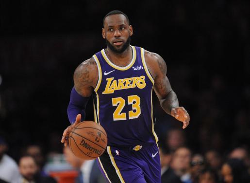 LeBron James (Los Angeles Lakers), durante el partido de la pasada madrugada.