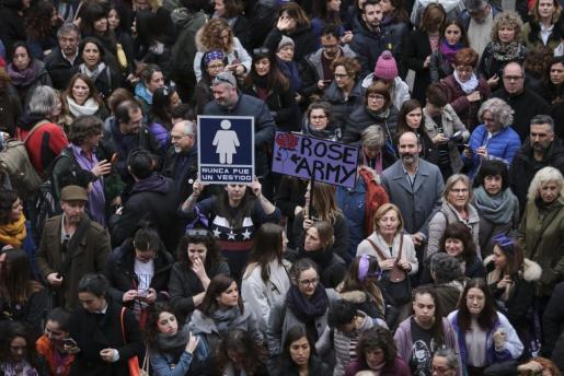 Imagen de la manifestación del 8 de marzo de 2018 en Palma.