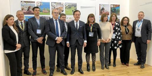 Govern, consells y hoteleros se reunieron este jueves en el estand de Balears con los principales touroperadores alemanes.