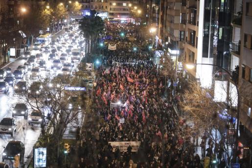Manifestación en 2018 del 8M en Palma.