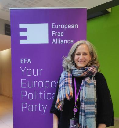 Alice Weber, candidata de Més al Parlamento europeo.