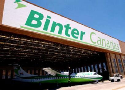 Hangar de Binter Canarias.