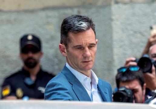 Imagen de archivo de Iñaki Urdangarin en la Audiencia de Palma para recoger la orden de ingreso en prisión.