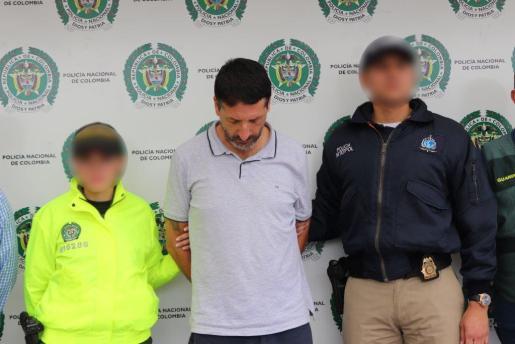 Carlos García Roldán tras su arresto.