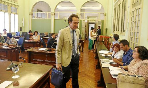 Marc Pons, en una comparecencia en comisión. Ahora se podrán seguir por videoconferencia.
