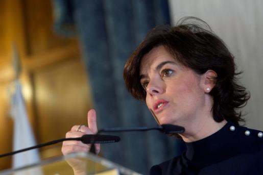La exvicepresidenta del Gobierno Soraya Sáenz de Santamaría que se incorpora en el despacho de abogados Cuatrecasas.