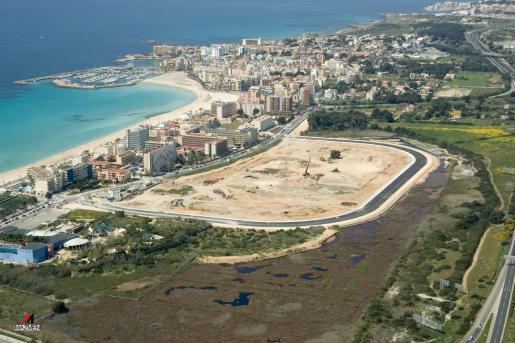 Imagen panorámica de la zona donde se planea el centro comercial de ses Fontanelles.