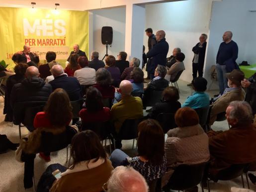 Més per Mallorca ha celebrado un acto de apoyo a Joan Francesc Canyelles para que repita como alcalde de Marratxí.