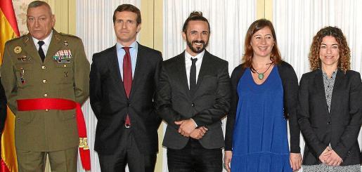 Juan Cifuentes, Pablo Casado, Baltasar Picornell, Francina Armengol y Rosario Sánchez.