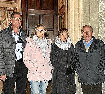 Jaume Pons, Maria Delasio, Antonia Delasio y Tomeu Alorda.