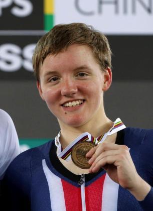 La medallista olímpica Kelly Catlin.