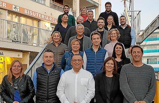 Imagen de los integrantes de la candidatura del PSOE.