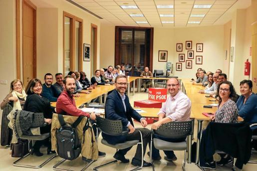 Imagen de la reunión de la ejecutiva del partido en Palma, que aprobó su propuesta.