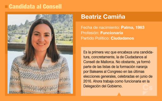 Beatriz Camiña es la candidata de Ciudadanos al Consell de Mallorca.