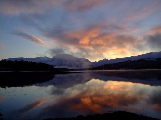 La montaña Ben Nevis, la más alta de Reino Unido.