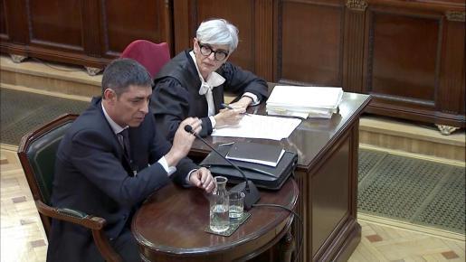 Momento de la declaración de Josep Lluís Trapero.