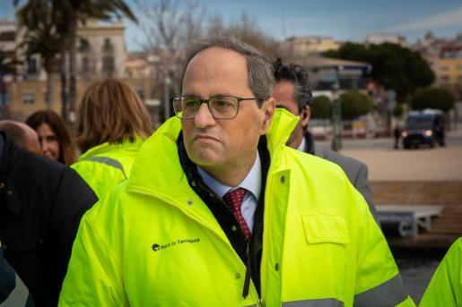 Visita del presidente de la Generalitat, Quim Torra, al Puerto de Tarragona.