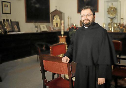 Josef Sciberras, este jueves en la sacristía de la iglesia del Socors.