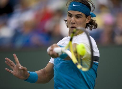 Rafael Nadal, durante un partido en la edición del pasado año del torneo de Indian Wells.