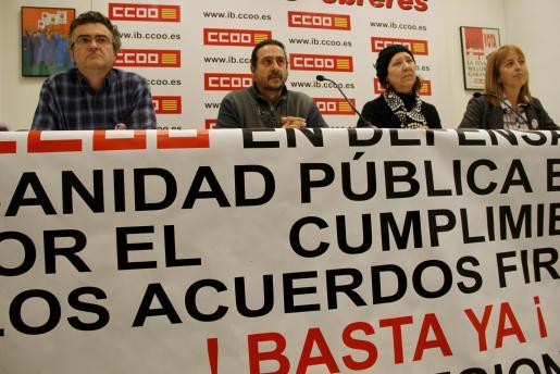 Bernabeu, Garcia, Pascual y Roldán, durante la presentación.